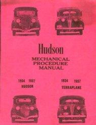 1934 1937 Hudson and Terraplane Mechanical Procedure Manual
