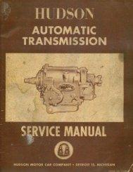 1954 Hudson Automatic Transmission Service Manual