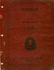 1946 Hudson Group Parts Book