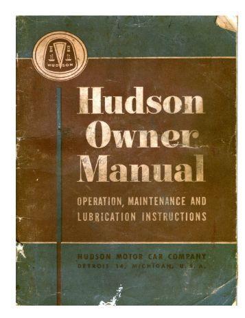 1950 Hudson Owner Manual