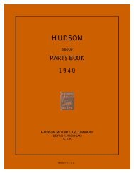 1940 Hudson Group Parts Book Six and Eight