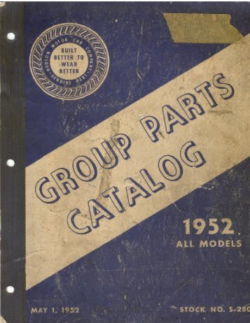 1952 Group Parts Book