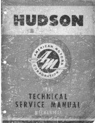1955 AMC Hudson Technical Service Manual