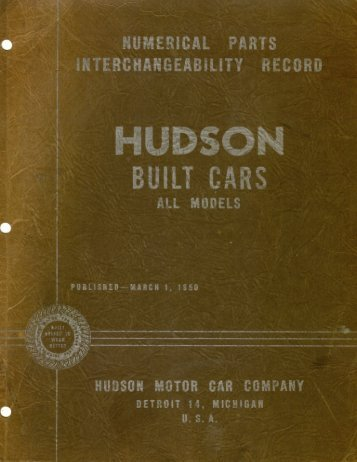1927 - 1950 Hudson Interchange Manual - Hudson-Essex ...
