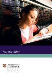 Annual Report 2007 - the University Offices - University of Cambridge