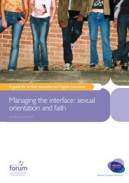 Managing the interface: sexual orientation and faith: A guide for