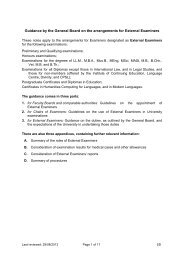 General Board Guidance on the arrangements for external examiners