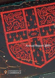 Annual Report 2011 - the University Offices - University of Cambridge