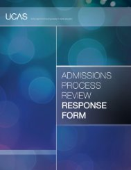Admissions Process Review Response Form - University of ...