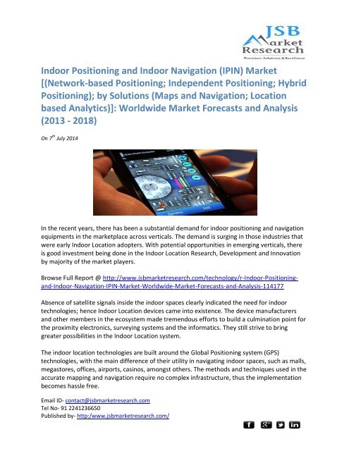 JSB Market Research: Indoor Positioning and Indoor