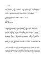 "About the Book: ""For years Chögyam Trungpa ... - Shambhala"