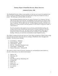 Summary Report of Shambhala Diversity Alliance Interviews