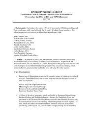 DIVERSITY WORKING GROUP Conference Calls to ... - Shambhala