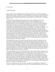 23. Januar 2005 An den Edlen Sangha, heute ... - Shambhala