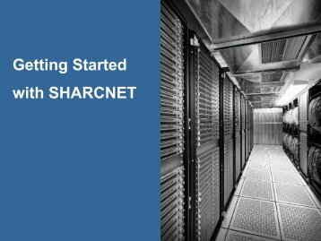 Getting Started with SHARCNET