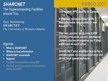 The University of Western Ontario - SHARCNet