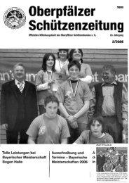 Oberpfälzer 9800 Schützenzeitung - BSC Sulzbach-Rosenberg