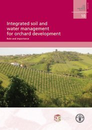 Integrated soil and water management for orchard ... - FAO.org