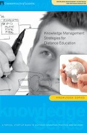 Knowledge Management Strategies for Distance Education