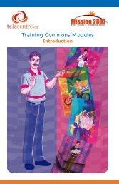 Training Commons Modules to Capacitate Telecentre ... - un-apcict