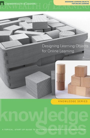 Designing Learning Objects for Online Learning - Commonwealth of ...