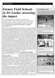 Farmer Field Schools in Sri Lanka: assessing the ... - Share4Dev.info