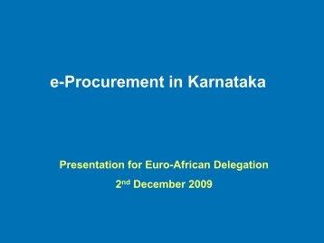 e-Procurement in Karnataka - Share4Dev.info