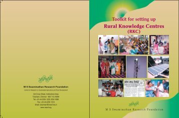 Rural Knowledge Centres - Share4Dev.info