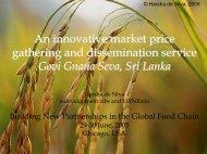 Harsha de Silva, Sri Lanka - Building Global Food Chain Partnerships