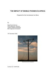 THE IMPACT OF MOBILE PHONES IN AFRICA - Share4Dev.info