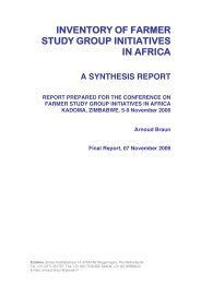inventory of farmer study group initiatives in africa - Share4Dev.info