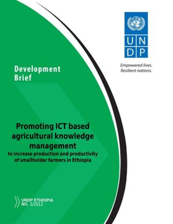 Promoting ICT based agricultural knowledge management to increase