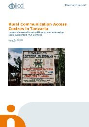 Rural Communication Access Centres in Tanzania - IICD
