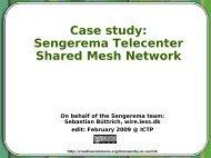 Case study: Sengerema Telecenter Shared Mesh Network