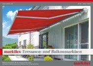 markilux Terrassen- und Balkonmarkisen