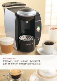 Einführung Espresso Kaffee - Bosch
