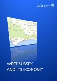 WEST SUSSEX AND ITS ECONOMY - Shared Intelligence