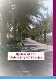 By law of Scientific Associations - University of Sharjah