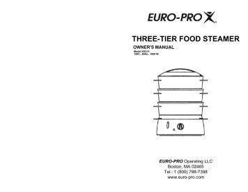 bellini steamer instruction manual