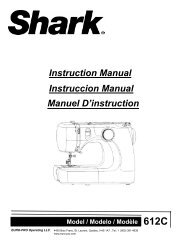 Instruction Manual Instruccion Manual Manuel D'instruction - Shark