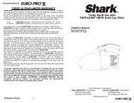 Turbo Hand Vac with TAPCLEAN® HEPA Dust Cup Filter - Shark