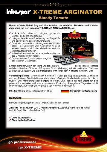 Produktinfos inkospor X-TREME ARGINATOR 120308 idsmx