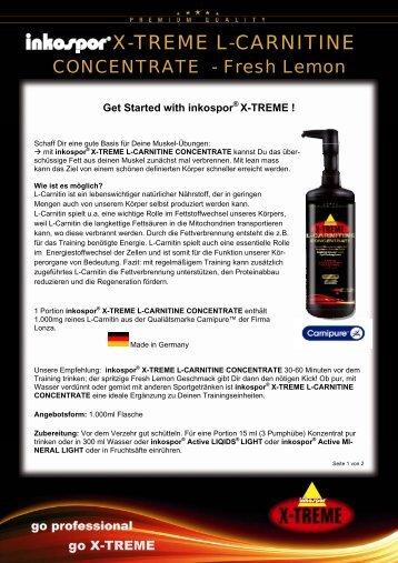 inkospor® X-TREME L-CARNITINE CONCENTRATE
