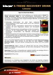 Produktinfos inkospor X-TREME RECOVERY DRINK 120312