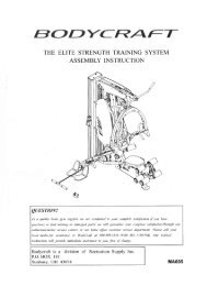 the elite strength training system assembly instruction - Bodycraft