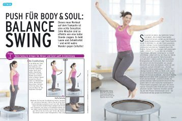 PUSH FÜR BODY & SOUL: - Balance Swing