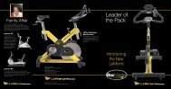 Leader of the Pack - LeMond Fitness Benelux