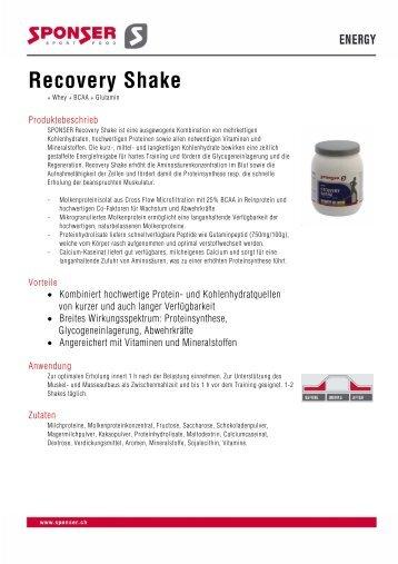 Recovery Shake - Shark Fitness-Shop