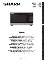 R-240 Operation-Manual GB - Sharp