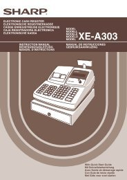 XE-A303 Operation-Manual GB - Sharp